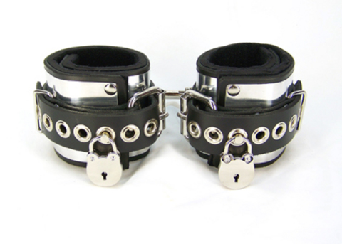 Locking Metal Band Ankle Cuffs