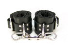 Black Satin Lined Ankle Cuffs