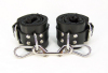 Black Satin Lined Wrist Cuffs