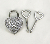 Rhinestone Heart Lock