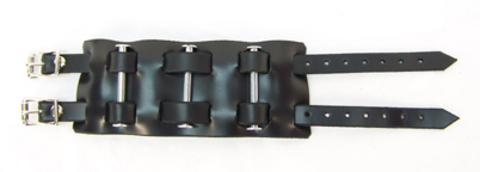 "2 1/2"" Leather/Bolts Wristband"