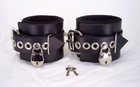 Locking Leather Ankle Cuffs