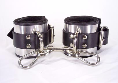 Leather Metal Band Ankle Cuffs Sex Toy Product