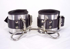 Leather Metal Band Ankle Cuffs
