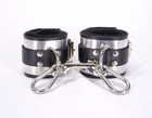 Leather Metal Band Wrist Cuffs Sex Toy Product