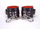 Red Satin Lined Wrist Cuffs Sex Toy Product