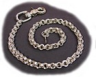 1/4 inch triple link wallet chain w/ claw