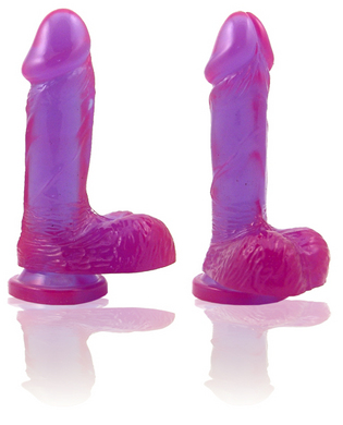 Natural Feel 6 Inch Cock with Suction Cup - purple