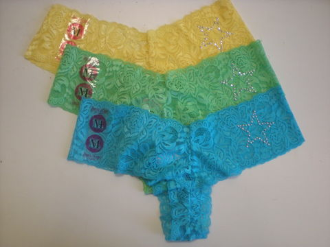 "Panty Party Collection ""Lace Gallon Panty Thong"