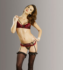 "French Can-Can ""Burlesque Bra & Panty"" Size 1X-2X"