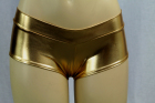 Shiny Mini Boyshorts Gold Medium/Large