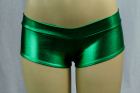 Shiny Mini Boyshorts Green Small/Medium