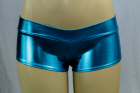 Shiny Mini Boyshorts Teal Medium/Large