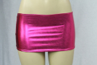 Vinyl-Look Miniskirt Pink One Size