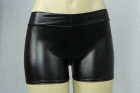 Vinyl-Look Boyshort Black One Size