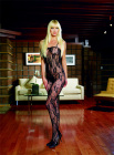 Romantic Rose Lace Bodystocking Red Queen Size
