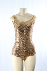 Sequined One Piece Gold Small/Medium