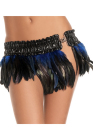 Be Wicked Feather Mini Skirt Medium/Large