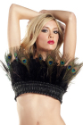 Be Wicked Peacock Feather Top