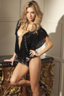 Deep V Sequined Teddy Small/Medium