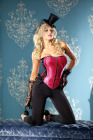 Be Wicked Corset Fushia 34