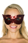 Be Wicked Sequin Mask Red One Size