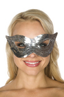 Be Wicked Sequin Mask Silver One Size