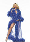 Be Wicked Glamour Robe Blue