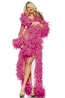 Be Wicked Glamour Robe Hot Pink