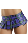 Be Wicked Plaid Pleated School Girl Mini Skirt Medium/Large