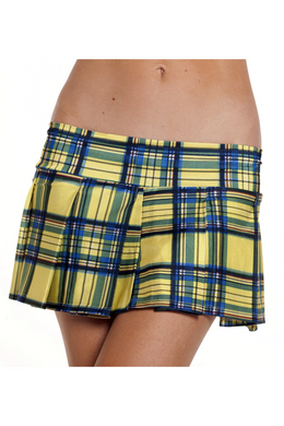 Plaid Skirt Yellow Small/Medium