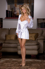 Dreamgirl Women&#039;s Charmeuse Robe Set 1X/2X