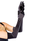 Leg Avenue Extra Long Satin Gloves Black