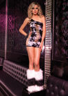 Seamless Asymmetrical Tie Dye Cut Out Mini Dress One Size