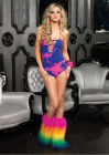Seamless Neon Tie Dye Teddy One Size