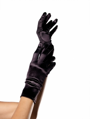 Satin Wrist Length Warmers Black