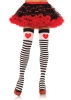 Striped Stockings with Red Hearts