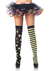 Stars and Stripes Thigh Highs Neon Green