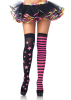 Stars and Stripes Thigh Highs Neon Pink