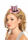 Leg Avenue Velvet Striped Mini Top Hat One Size