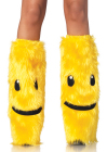 Furry Happy Face Leg Warmers