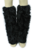 Fur Leg Warmer Black