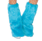 Fur Leg Warmer Turquoise