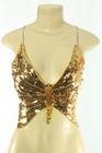 Sequined Top Butterfly Gold