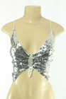 Sequined Top Butterfly Silver