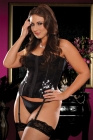 Sequin Garters &amp; Thong Black Extra Large