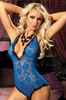   Life in the Fast Lane, Blue Lace Bodysuit By Seven Till Midnight