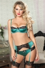 Seven Til Midnight Simply Stunning Three Piece Set Green Small