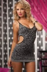 Seamless Leopard Jacquard Dress Black One Size