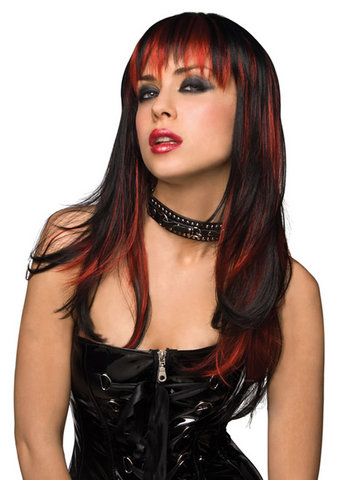 Courtney Wig Black Burnt Red